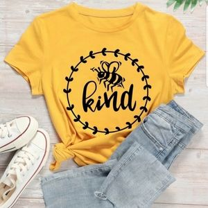 Bee Kind t shirt yellow size 3XL SHEIN